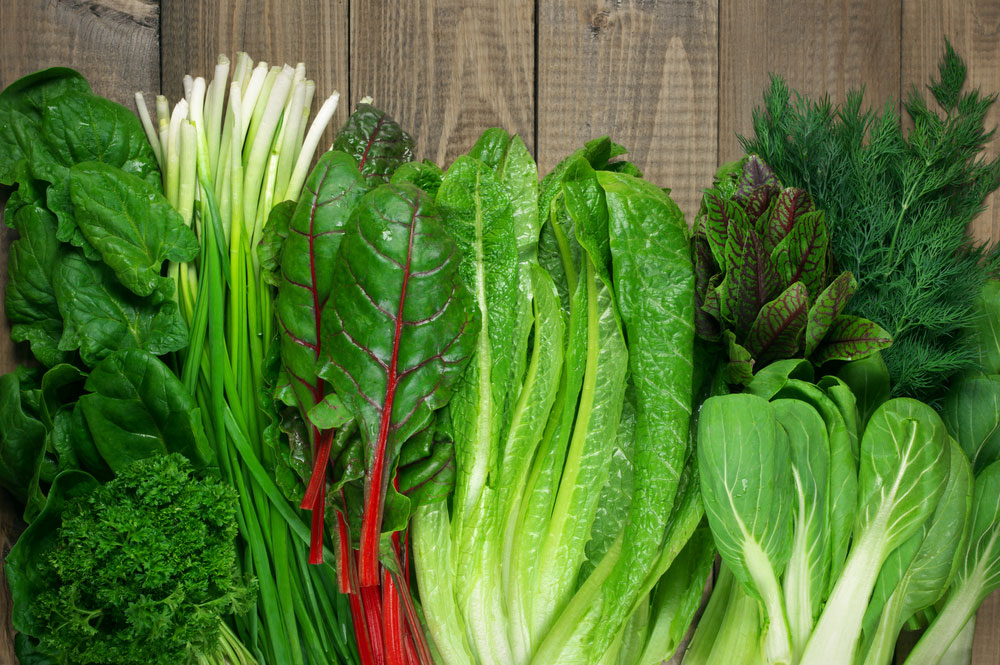 Anemia-treatment-foods-Green-leafy-vegetables